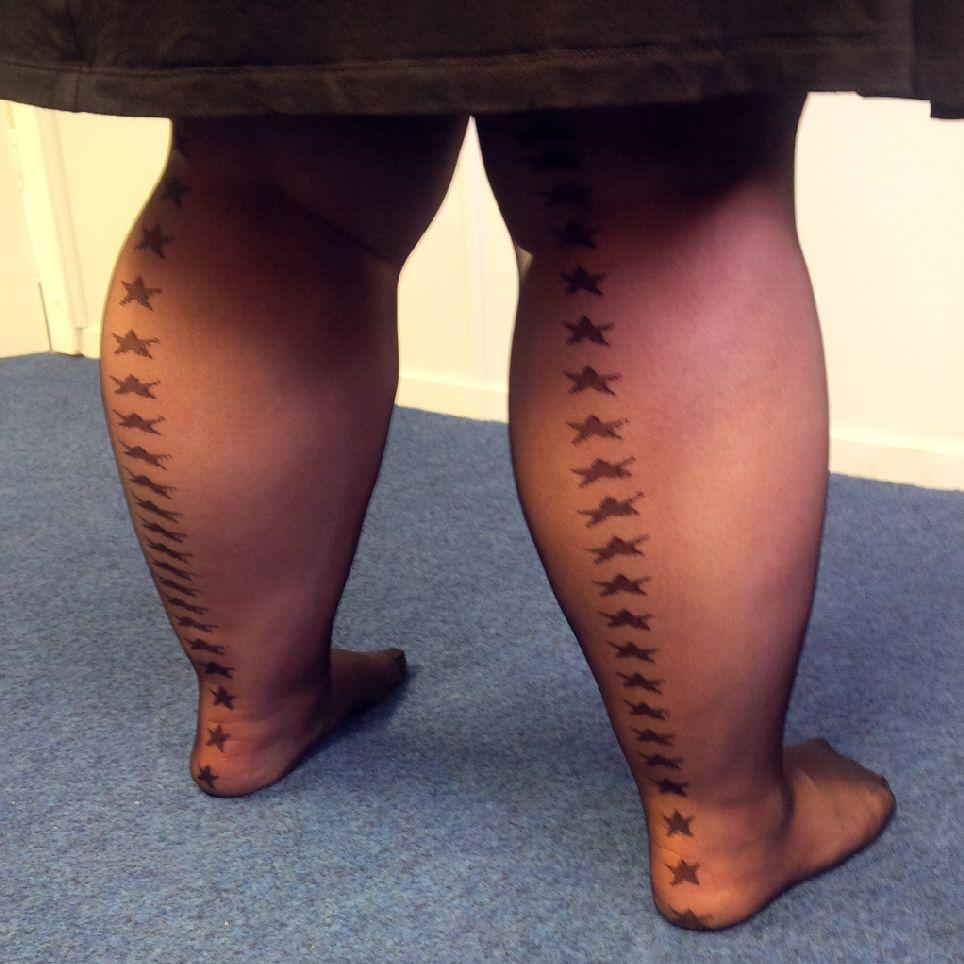 Bbw nylon legs